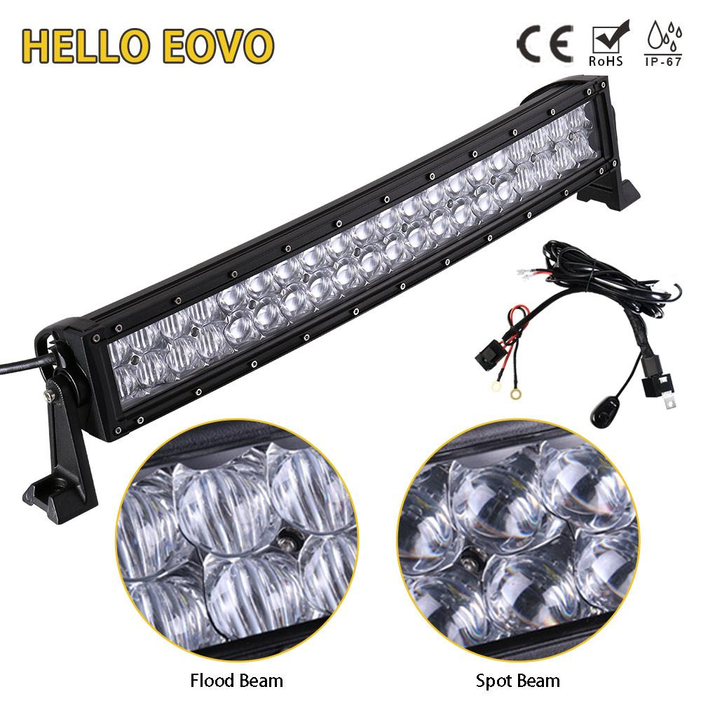 hight resolution of hello eovo 5d 22 inch curved led light bar for work driving offroad boat car tractor truck 4x4 suv atv with switch wiring kit led lighting source led lights