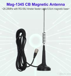 27mhz cb radio antenna mag 1345 pl259 connector with magnet base and 4 meters feeder cable center for citizen band radio digital walkie talkie radios walkie  [ 1000 x 1000 Pixel ]