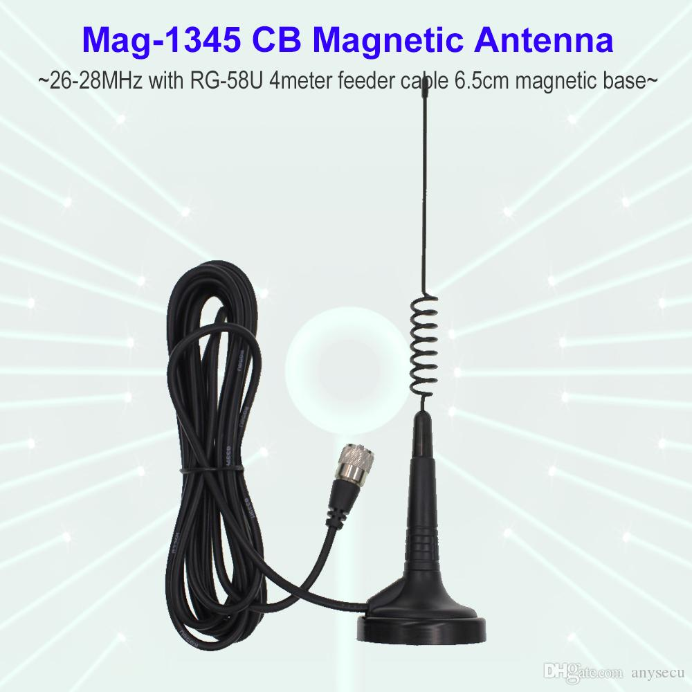 hight resolution of 27mhz cb radio antenna mag 1345 pl259 connector with magnet base and 4 meters feeder cable center for citizen band radio digital walkie talkie radios walkie