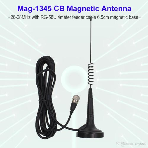 small resolution of 27mhz cb radio antenna mag 1345 pl259 connector with magnet base and 4 meters feeder cable center for citizen band radio digital walkie talkie radios walkie