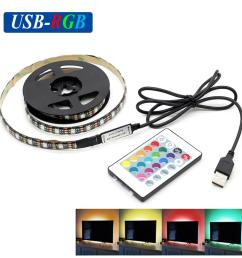 dc5v usb rgb led strip smd5050 flexible light lamps led light tv background lighting adhesive tape 50cm 1m 2m rgb remote control connecting led strips  [ 1000 x 1000 Pixel ]