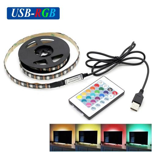 small resolution of dc5v usb rgb led strip smd5050 flexible light lamps led light tv background lighting adhesive tape 50cm 1m 2m rgb remote control connecting led strips