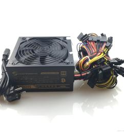 2018 newest 1800w pc mining power supply psu 24pin for bitcoin miner r9 380 390 rx 470 480 rx 570 1060 for antminer [ 3024 x 3024 Pixel ]