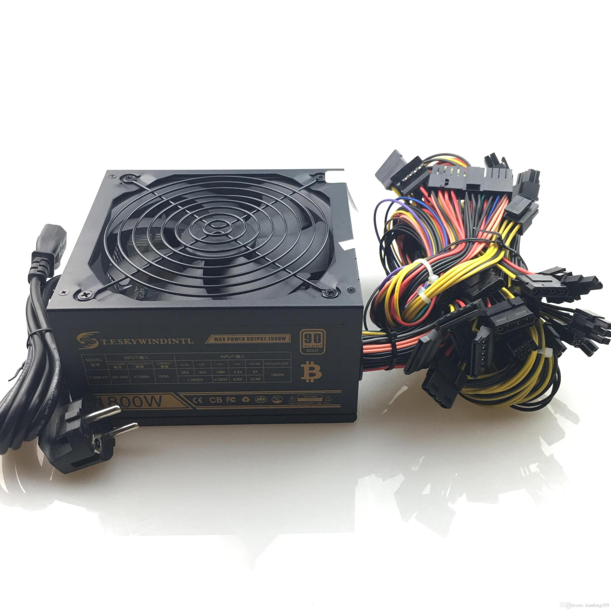 hight resolution of 2018 newest 1800w pc mining power supply psu 24pin for bitcoin miner r9 380 390 rx 470 480 rx 570 1060 for antminer