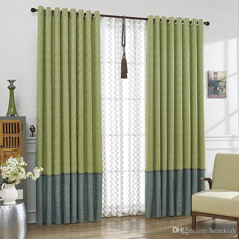 simple living room curtains how to decorate a with fireplace 2019 stitching thickening study striped curtain windshield nordic bedroom finished and modern