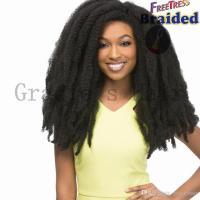 18inch Afro Kinky Twist Hair Bulks Synthetic Braiding Hair ...