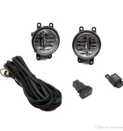 for toyota yaris 2006 2013 h11 wiring harness sockets wire connector switch 2 fog lights drl front bumper led lamp fog light rack fog light replacement  [ 1000 x 1000 Pixel ]