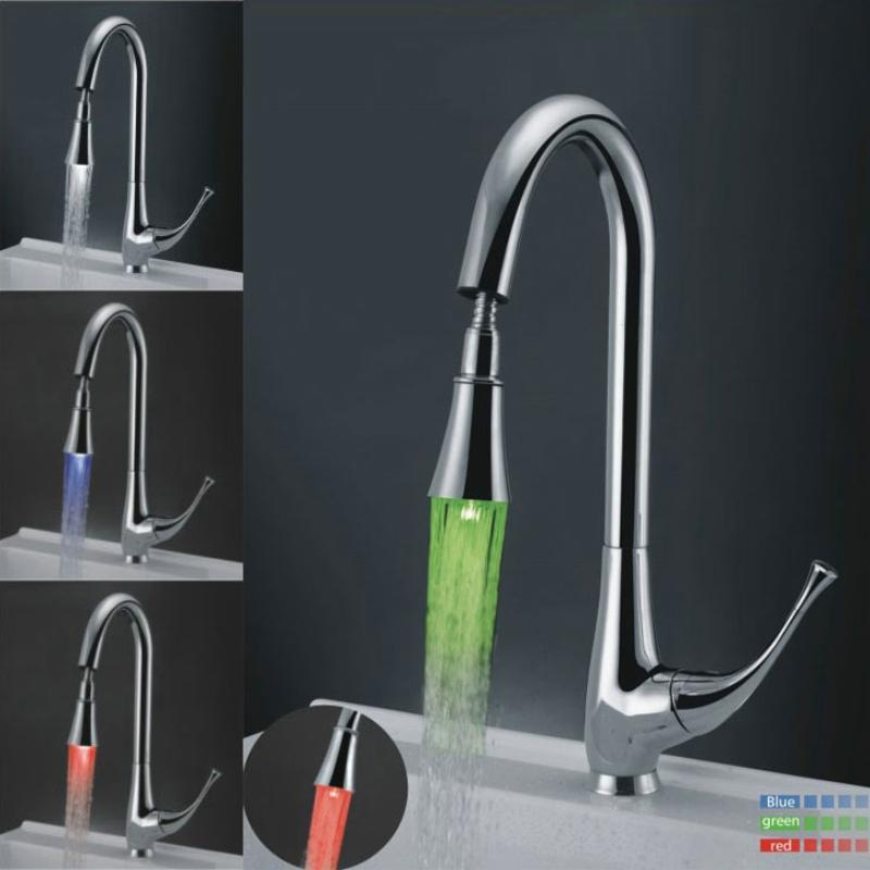 led kitchen faucet personalized signs 2019 red blue green single handle hole copper br 119 from happpyzone 123 81 dhgate com