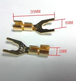 2019 copper speaker cable spade connector terminal plug gold plated from ann good 23 2 dhgate com [ 1600 x 1200 Pixel ]