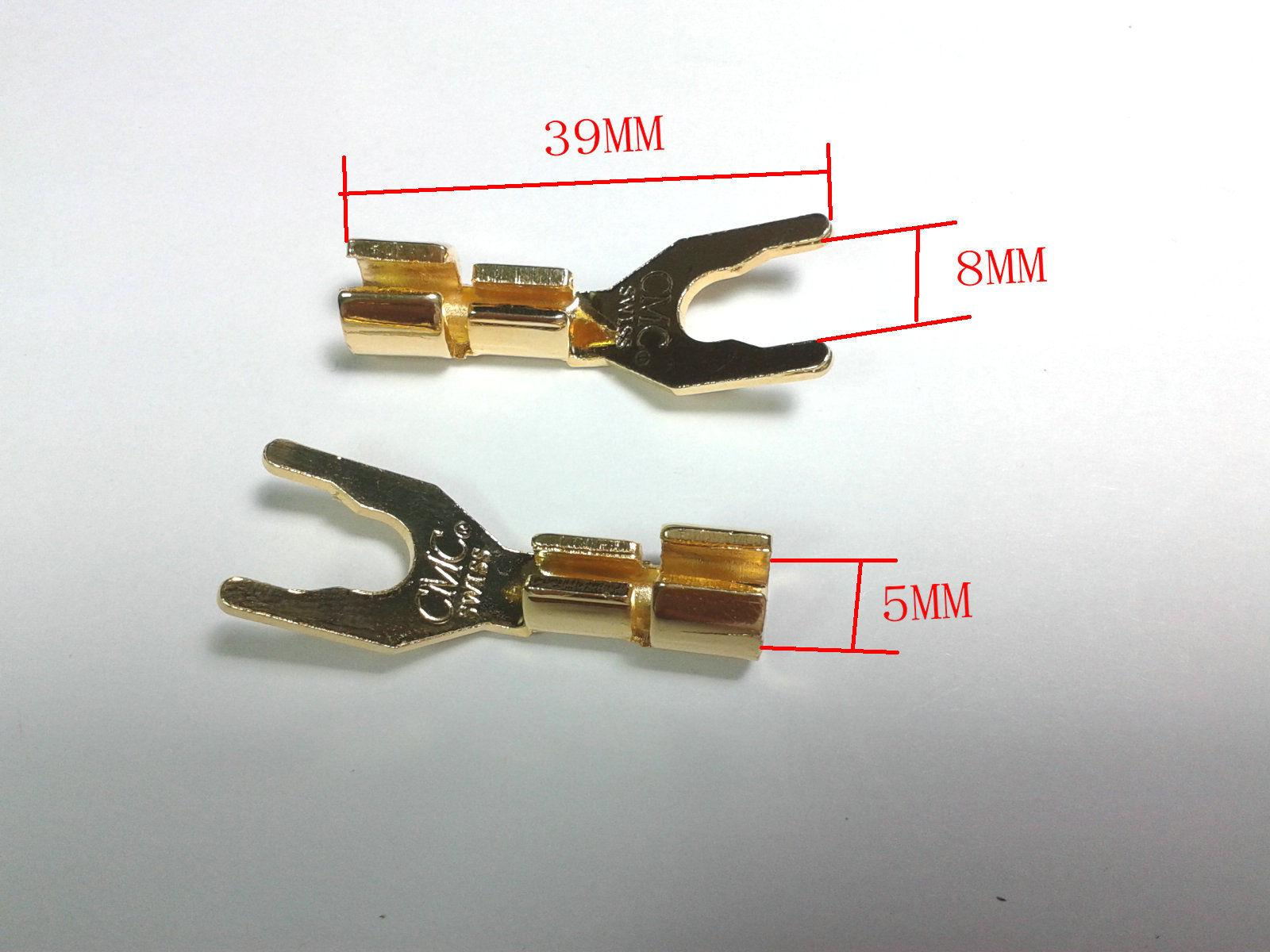 hight resolution of 2019 copper speaker cable spade connector terminal plug gold plated from ann good 23 2 dhgate com
