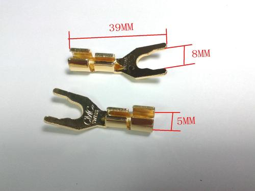 small resolution of 2019 copper speaker cable spade connector terminal plug gold plated from ann good 23 2 dhgate com