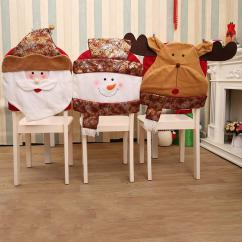 Holiday Decorative Chair Covers Identify Antique Dining Styles Wholesale New Merry Christmas Cover Santa Snowman Deer Party Kitchen Table Back Slipcover Decor