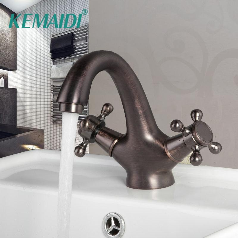 AQMMi Bathroom Sink Mixer Tap Cold and Hot Water Spring Swivel Spout Pull Out Sprayer Taps for Bathroom Sink Janitorial & Sanitation Supplies Commercial Bathroom Sink Taps