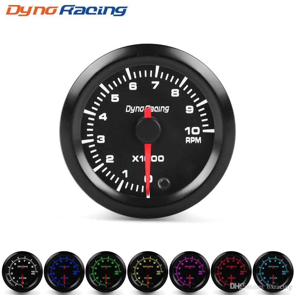 medium resolution of dynoracing 2 52mm 7 colors led car auto tachometer 0 10000 rpm gauge with high speed stepper motor rpm meter car meter yc101381