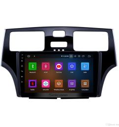 9 inch android 9 0 touchscreen car radio for 2001 2002 2003 2004 2005 lexus es with bluetooth gps navi wifi usb support rear camera car dvd portable dvd  [ 1500 x 1500 Pixel ]