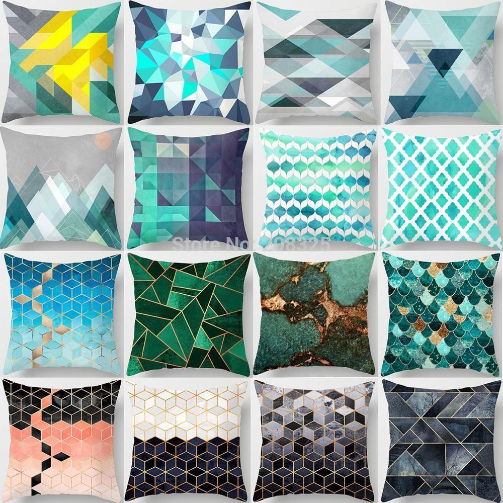 pillow covers for living room walmart furniture bohemian geometric case cushion cover home decorative fall sofa car almofada funny cases pattern