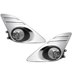 for toyota camry 2012 2013 2014 fog lamp assembly chromed fog light cover trim grill wire igh brightness fog light lamp set [ 1212 x 1200 Pixel ]