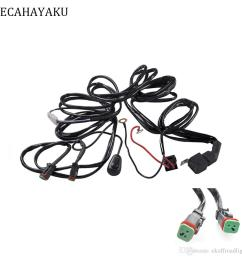 2019 ecahayaku car auto led work driving lights wiring loom harness offroad light bar 3 metes wire cable 40a 12v 24v switch relay kit from ekoffroadlight  [ 1000 x 1000 Pixel ]