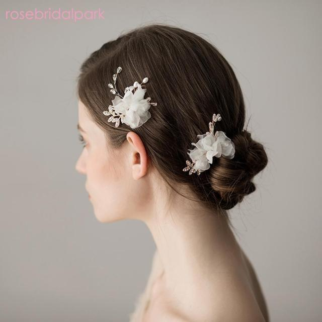 wholesale wedding hair accessories pearl headpiece hair pins floral bridal bridesmaid hairpins headdress vine jewelry 3pcs