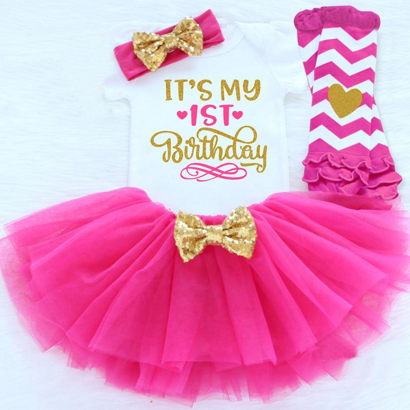 2019 My Little Girl Baby Clothing Sets 1 Year Toddler Tutu First