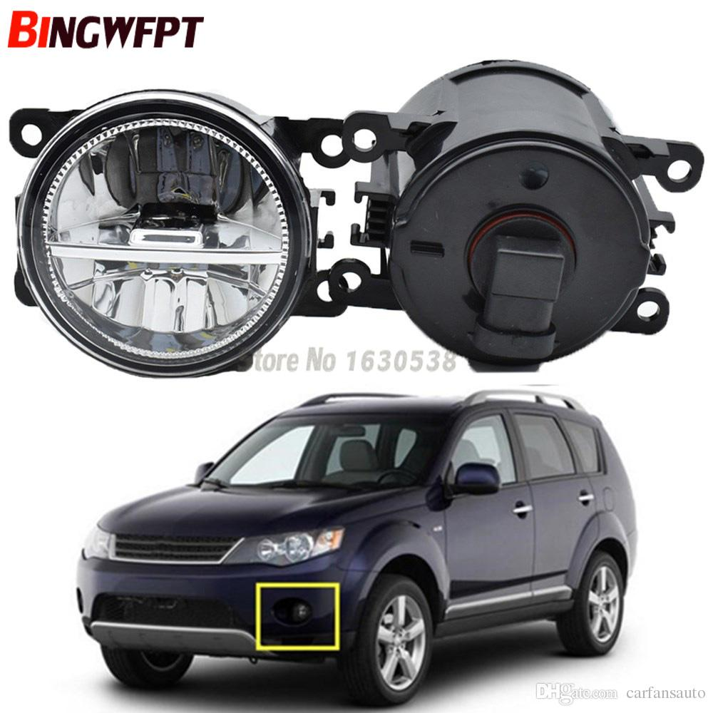 hight resolution of  pair fog lamp assembly 12v h11 led fog light halogen lamps for mitsubishi outlander 2 ii cw w 2006 2009 hid light car hid light conversion from carfansauto