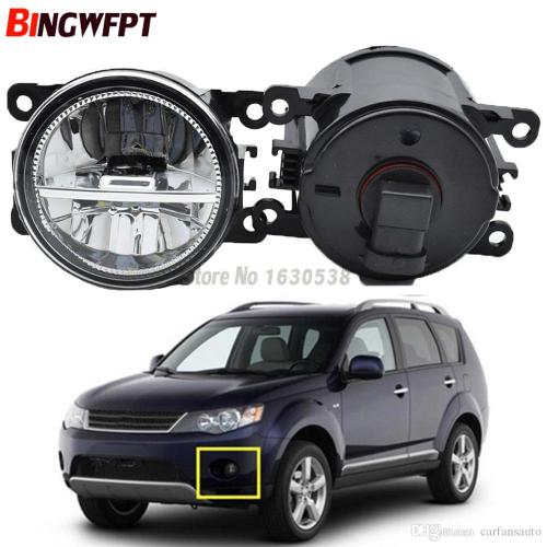 small resolution of  pair fog lamp assembly 12v h11 led fog light halogen lamps for mitsubishi outlander 2 ii cw w 2006 2009 hid light car hid light conversion from carfansauto