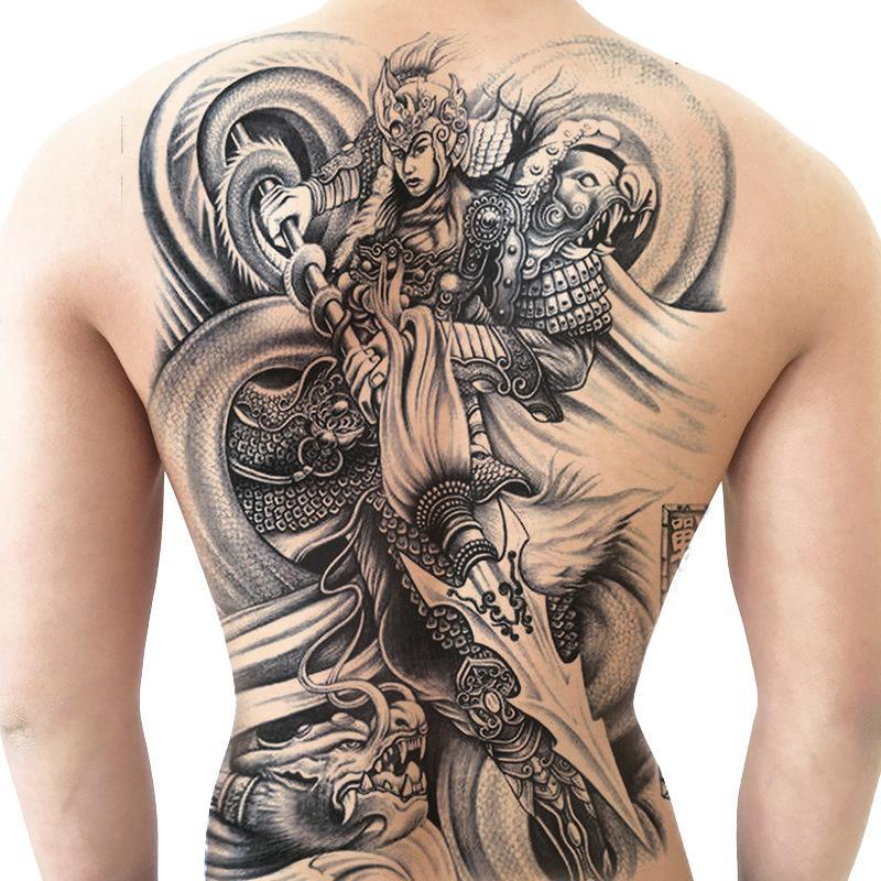 Hermanos Llenos De Pegatinas De Tatuaje En La Espalda Imagen Grande