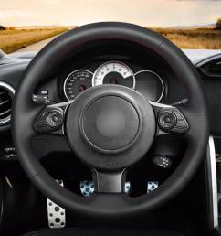mewant diy black artificial leather steering wheel cover for toyota 86 2016 2017 2018 2019 subaru brz 2016 2017 2018 2019 superskin steering wheel cover  [ 1200 x 1200 Pixel ]