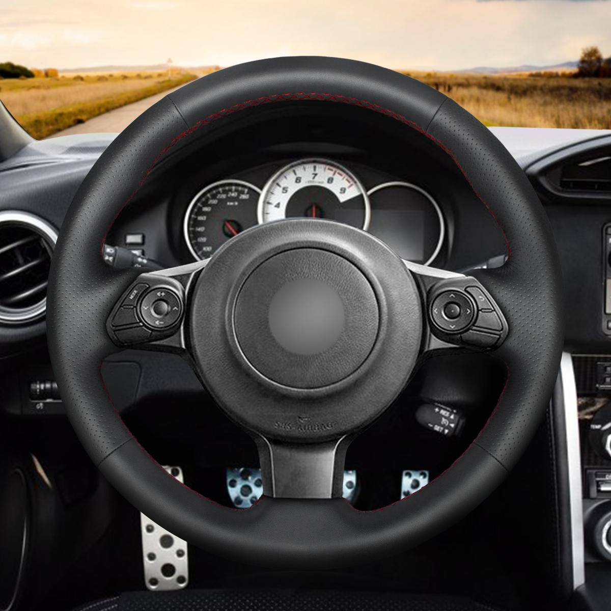 hight resolution of mewant diy black artificial leather steering wheel cover for toyota 86 2016 2017 2018 2019 subaru brz 2016 2017 2018 2019 superskin steering wheel cover