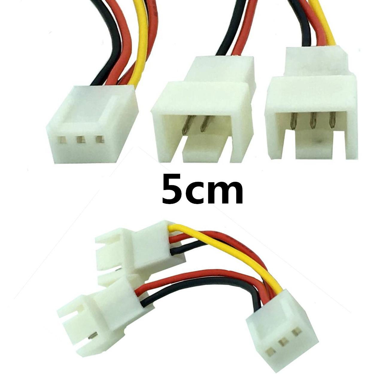 hight resolution of 5cm 12v pc fan 3 pin female splitter vga extension cable power connector adapter computer usb cables cables from candybin 4 02 dhgate com