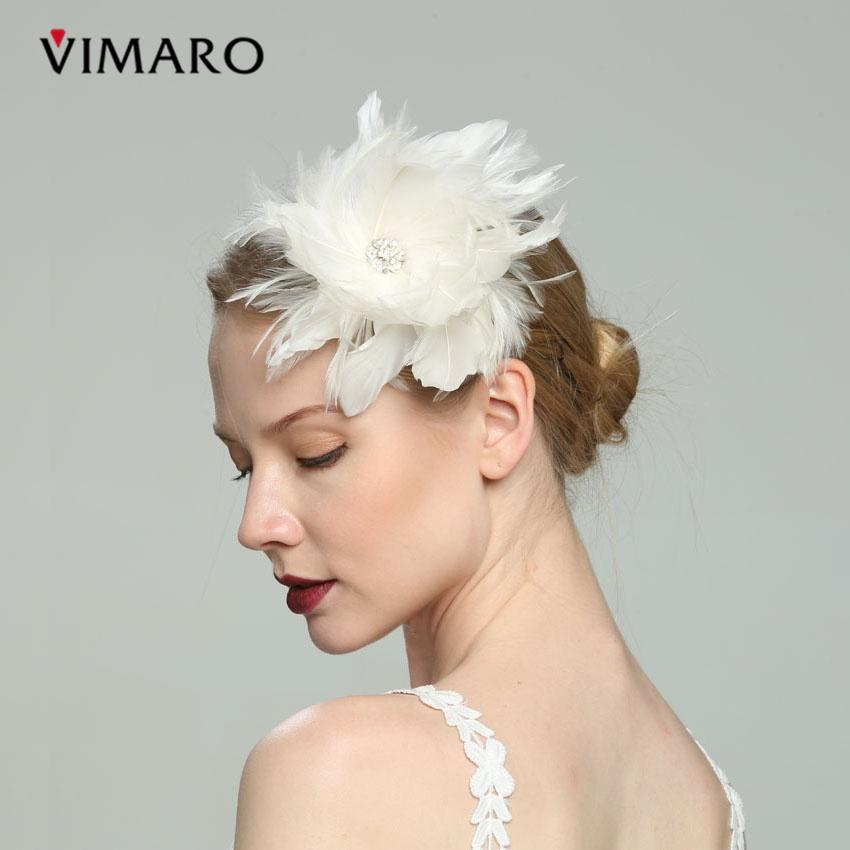 5pcs vimaro white hair fascinators hats for women elegant fascinators for weddings hats and fascinators wedding hair accessories clip