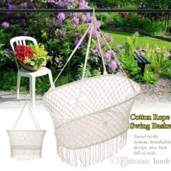 Rope Chair Swing Diy Dining Room Chairs Plans Kids Cotton Hammock Children Rocking Sleep Cheap Double Garden Best Blue
