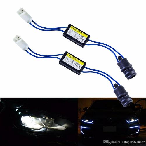 small resolution of 2 piece t10 t15 168 921 194 led turn signal lights canbus led decoder no error canceller kit with wiring adapter load resistor