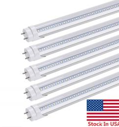 stock in us t8 led light tubes 4ft 22w dual end powered easy ballast removal installation led tubes cold white ac 85 265v [ 1000 x 1000 Pixel ]