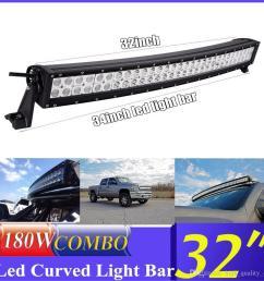 car truck parts led light bar 32inch 180w offroad driving marine boat spot flood beam 34 wiring [ 1000 x 1000 Pixel ]