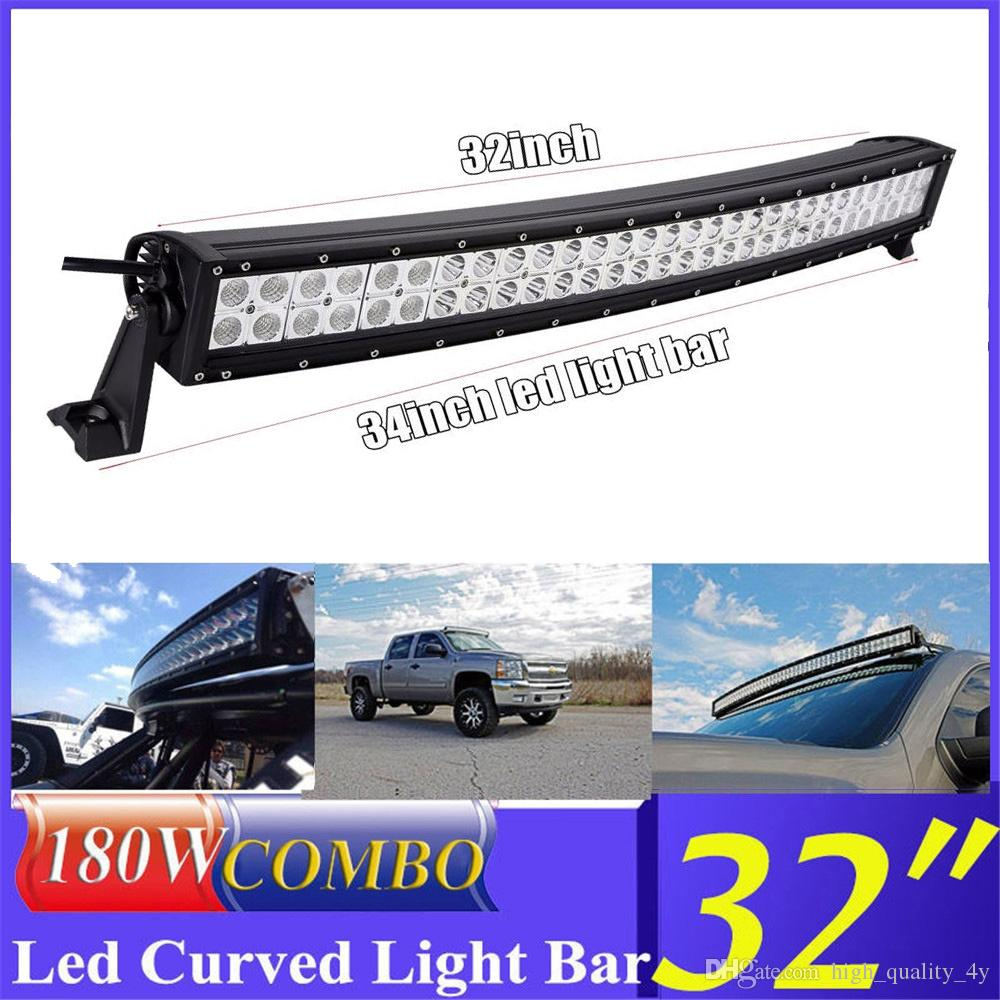 hight resolution of car truck parts led light bar 32inch 180w offroad driving marine boat spot flood beam 34 wiring