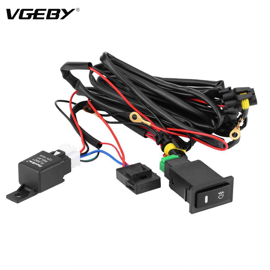 medium resolution of new wiring harness kit fuse relay switch 12v universal car led fog light on off switch car styling cheap car performance parts cheap car service parts from