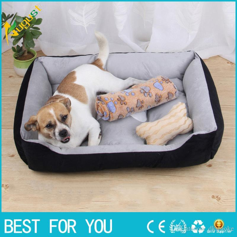 soft sofa dog bed antique back tables 2018 new warm corduroy padded washable pet house mat perros cheap beds removable covers best medium size