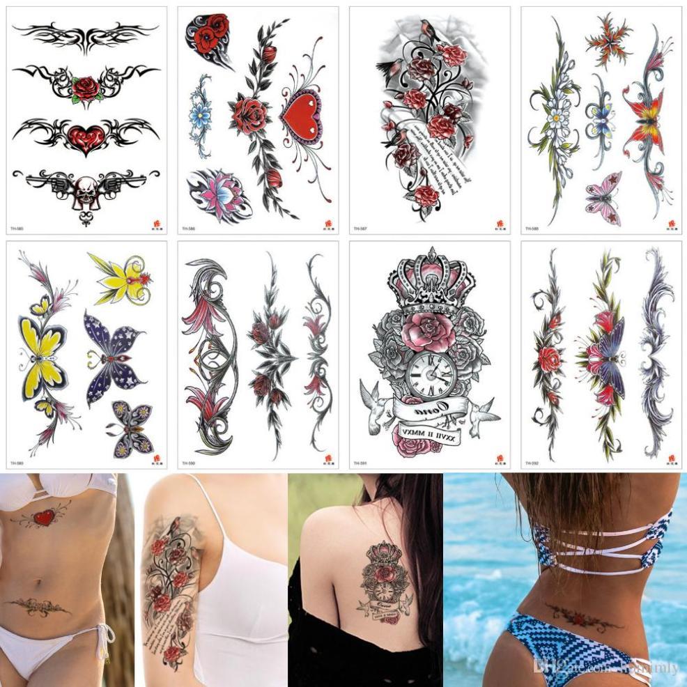 модные ювелирные изделия браслет наручные талии цепи руки временные татуировки
