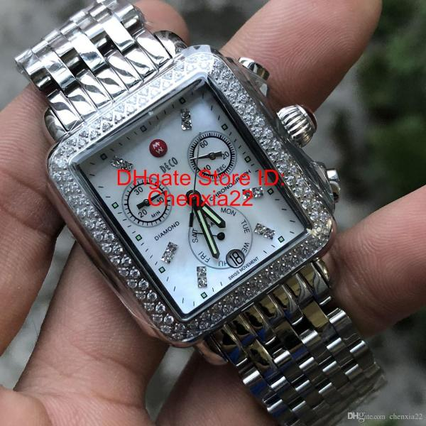 Luxury Watch Michele Signature Deco Diamonds Mop Shell
