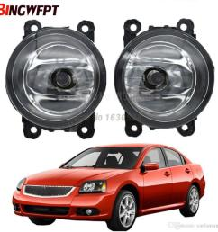 pair fog lamp assembly super bright led fog light halogen light for mitsubishi galant dj ed ef saloon 2003 2007 hids lights hids lights for cars from  [ 1000 x 1000 Pixel ]