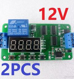 2019 2x low trigger dc 12v digital tube led multifunction delay relay time switch for plc smart home motor battery car motorcycle from llook  [ 1000 x 1000 Pixel ]
