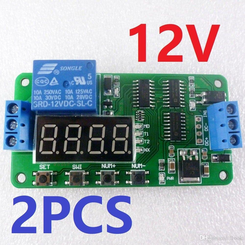 hight resolution of 2019 2x low trigger dc 12v digital tube led multifunction delay relay time switch for plc smart home motor battery car motorcycle from llook