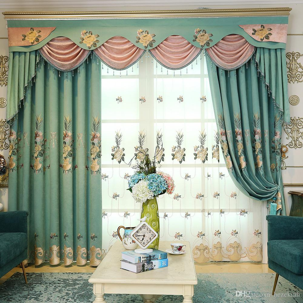 chevron living room curtains best interior design rooms 2019 curtain fabric european embroidered nordic blackout bedroom finished
