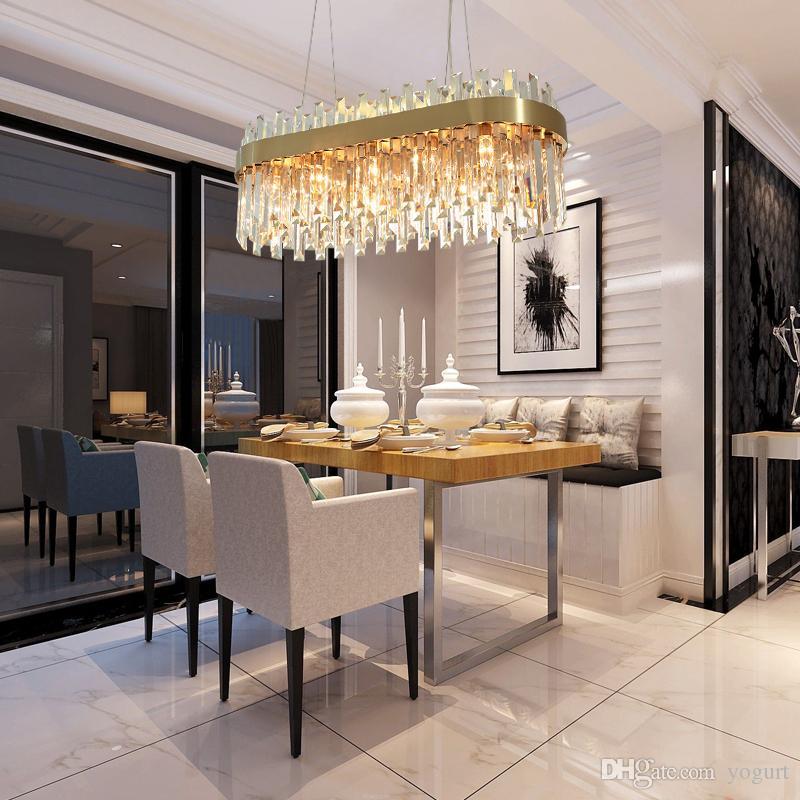 Luxury Gold Chandelier Lighting Dining Room Suspension