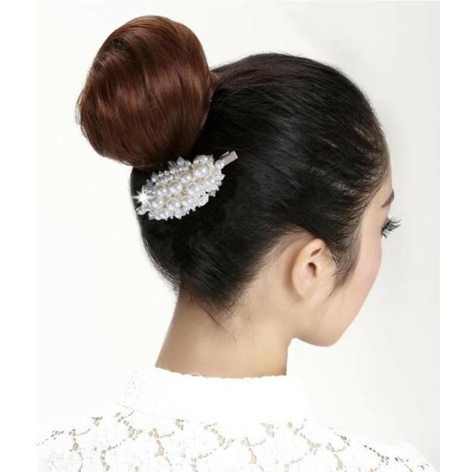 ins new fashion girls bride wedding hair jewelry barrettes pearl beads hair clips hairpins hair accessories for womens