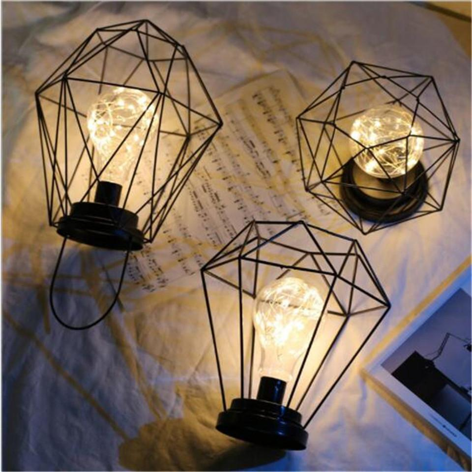 hight resolution of 2019 new black nordic retro table lamp iron minimalist copper wire aa battery night light creative 3d vintage wrought iron home lamp from cornelius