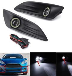 2018 car plastic black front bumper fog light angel eyes wiring ez wiring harness diagram chevy [ 1200 x 1200 Pixel ]