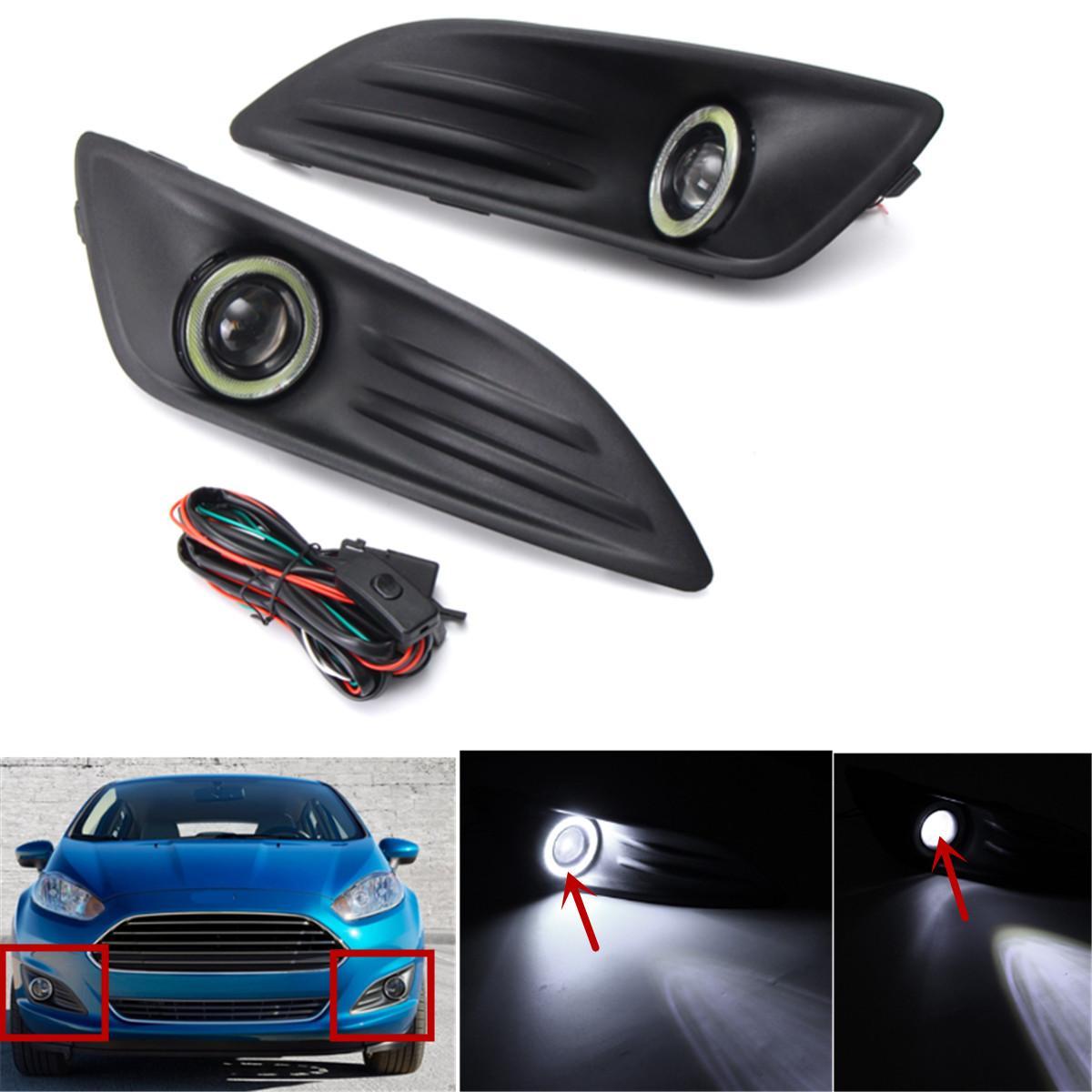 hight resolution of 2018 car plastic black front bumper fog light angel eyes wiring ez wiring harness diagram chevy