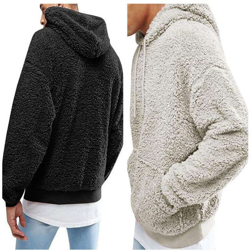 mens sherpa pullover hoodies